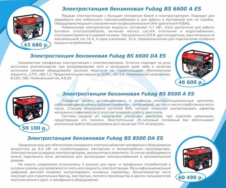 4b7ae46bf959 Хиты продаж. Бензиновые электростанции Fubag